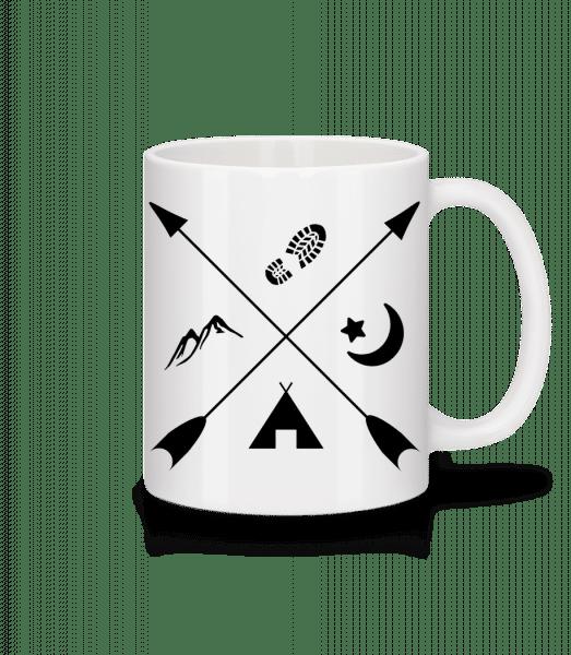 Hipster Pfeile - Mug - White - Front