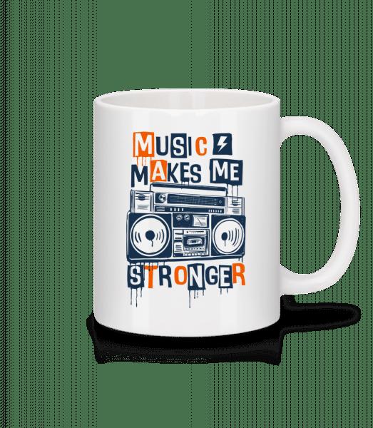 Music Makes Me Stronger - Mug - White - Vorn