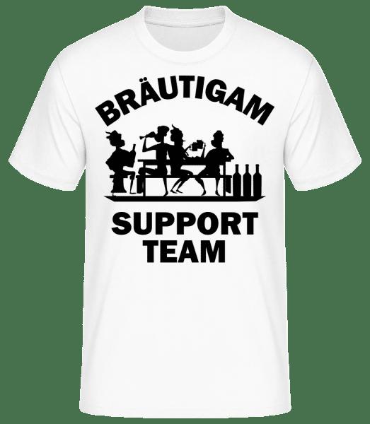 Bräutigam Support Team - Männer Basic T-Shirt - Weiß - Vorn