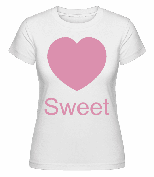 Sweet Heart - Shirtinator Frauen T-Shirt - Weiß - Vorn