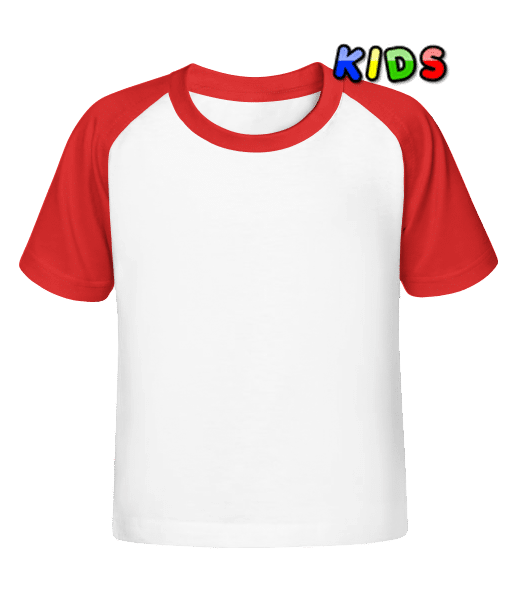 Kid's Baseball T-Shirt - White - Vorn