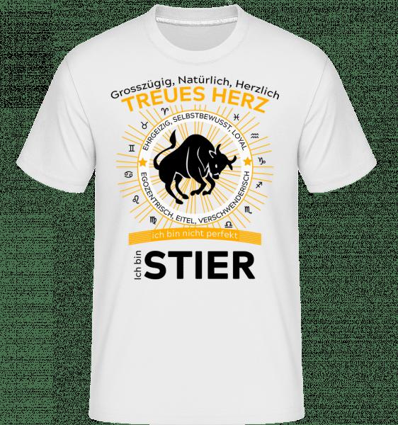 Sternzeichen Stier - Shirtinator Männer T-Shirt - Weiß - Vorn