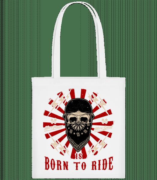 Born To Ride - Carrier Bag - White - Vorn