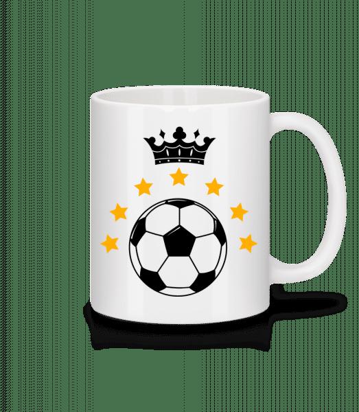 Football Crown - Mug en céramique blanc - Blanc - Devant
