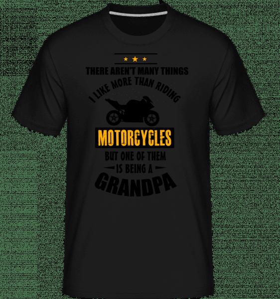 Biking Grandfather -  Shirtinator Men's T-Shirt - Black - Vorn