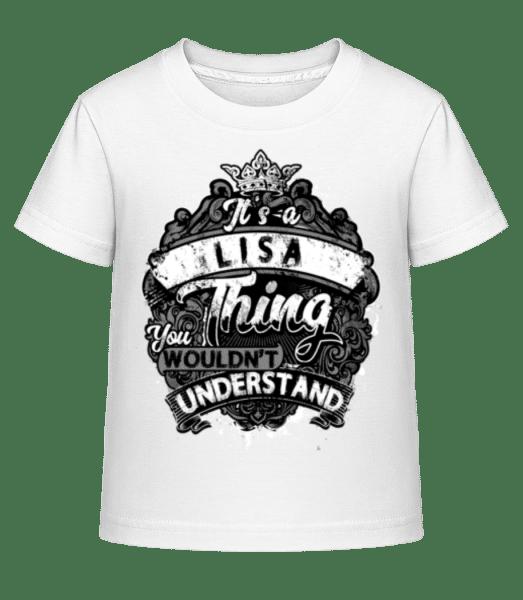 It's A Lisa Thing - Kinder Shirtinator T-Shirt - Weiß - Vorn
