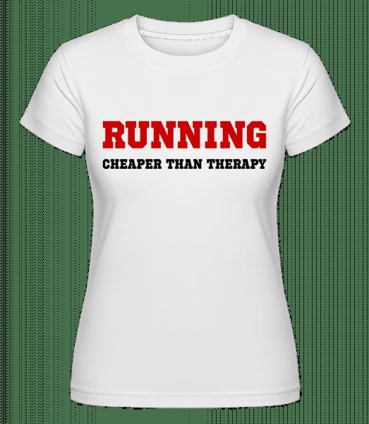 Běh - levnější než léčba -  Shirtinator tričko pro dámy - Bílá - Napřed