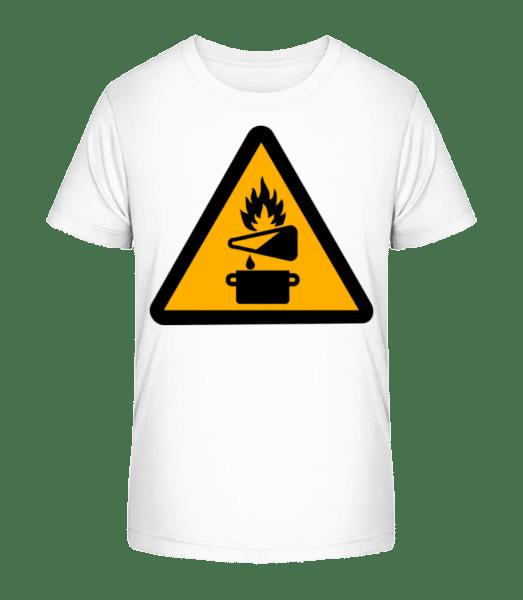 Attention Fire Hazard - Kid's Premium Bio T-Shirt - White - Vorn
