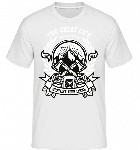 Axe -  Shirtinator Men's T-Shirt - White - Front