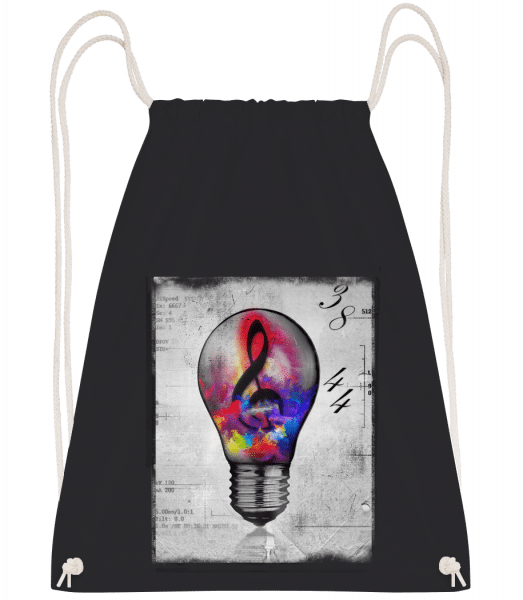 Colourful Lightbumb - Drawstring Backpack - Black - Vorn