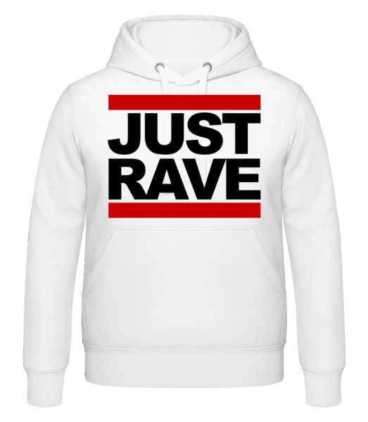 Just Rave Logo - Sweat à capuche - Blanc - Vorn