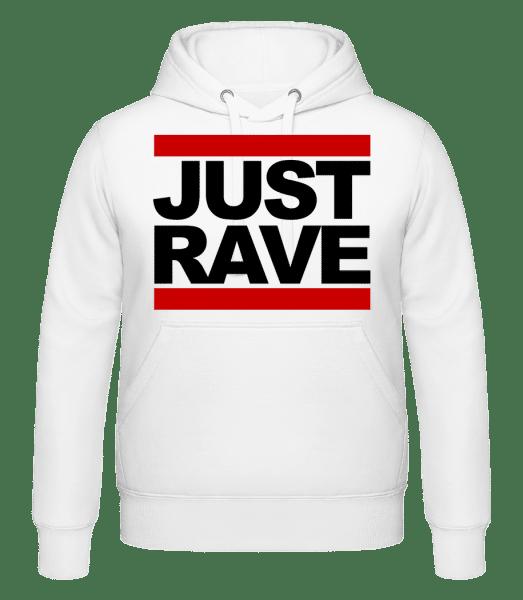 Just Rave Logo -  Kapuzenhoodie - Weiß - Vorn