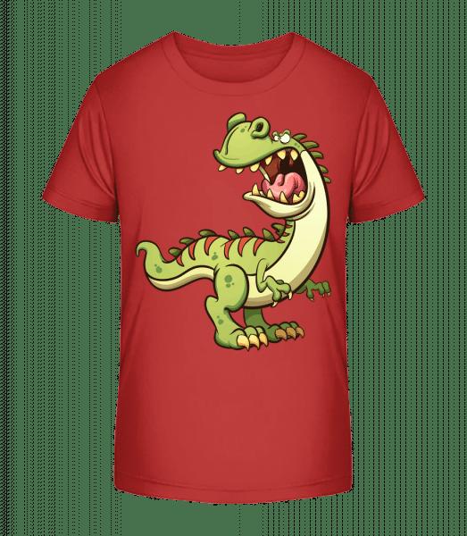 Dinosaur Comic - Detské Premium Bio tričko - Čerešňová - Predné