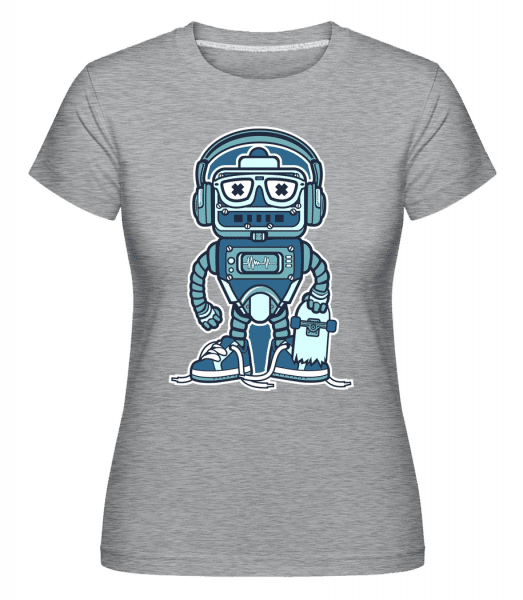 Robot Skater -  Shirtinator Women's T-Shirt - Heather grey - Vorn