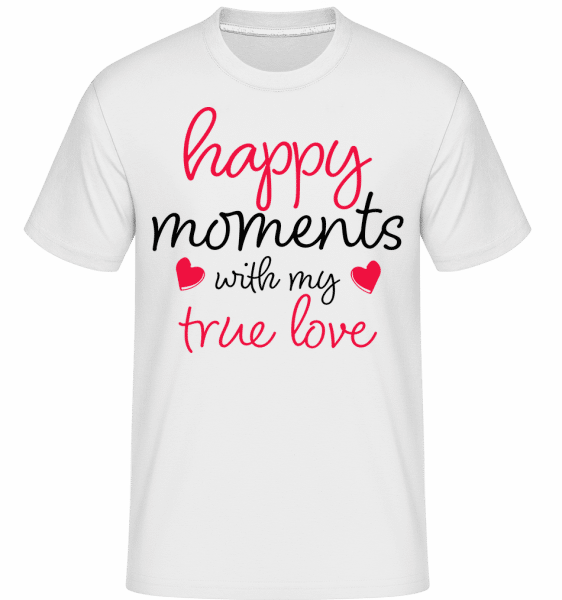 Happy Moments With My True Love -  Shirtinator Men's T-Shirt - White - Front