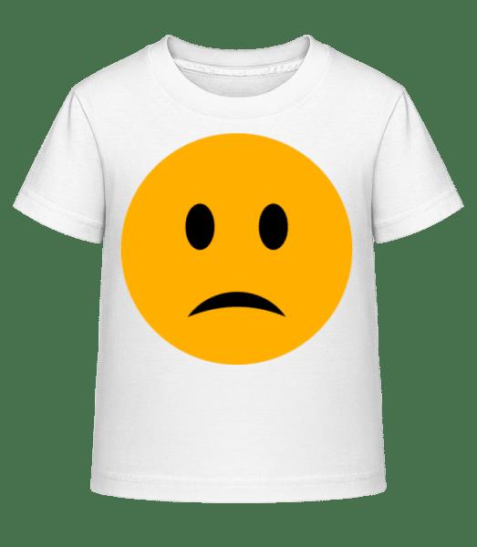 Sad Smiley - Kid's Shirtinator T-Shirt - White - Vorn