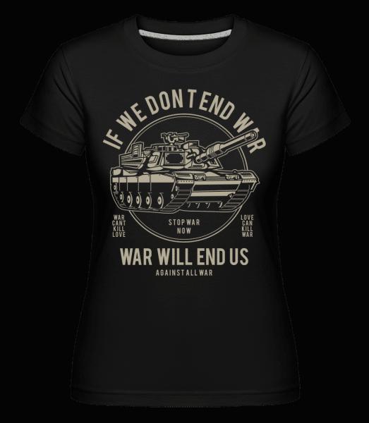 War -  Shirtinator Women's T-Shirt - Black - Vorn