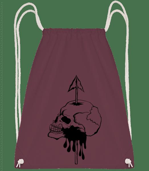 Death By Spear - Drawstring Backpack - Bordeaux - Vorn