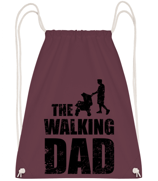 The Walking Dad - Drawstring Backpack - Bordeaux - Vorn