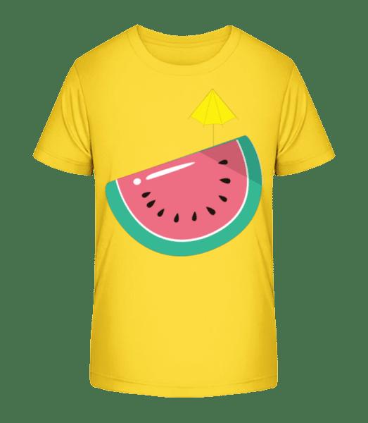 Sun Melon - Kid's Premium Bio T-Shirt - Yellow - Vorn