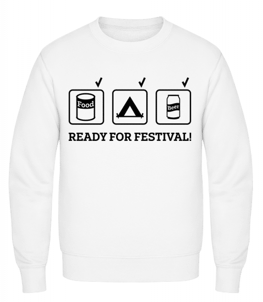 Ready For Festival - Classic Set-In Sweatshirt - White - Vorn