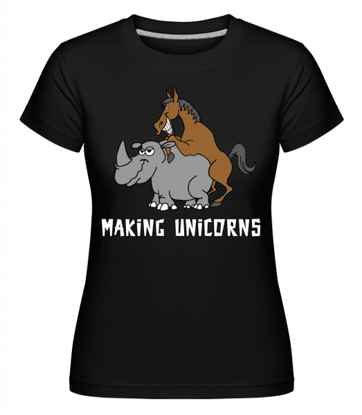 Making Unicorns -  Shirtinator Women's T-Shirt - Black - Vorn
