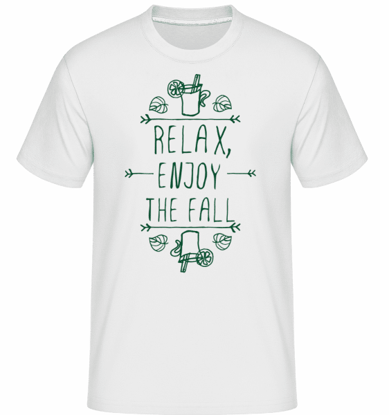 Relax, Enjoy The Fall -  T-Shirt Shirtinator homme - Blanc - Vorn