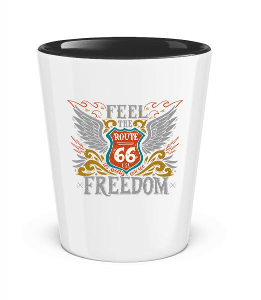 Feel the Freedom - Two-Toned Shot Glass - White - Vorn