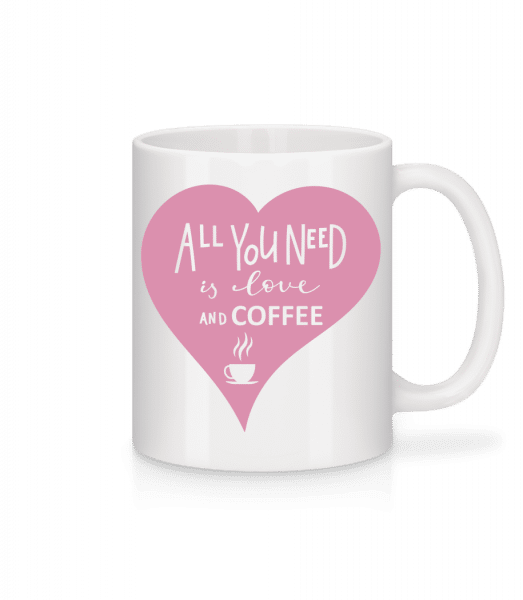 Love And Coffee - Mug - White - Front