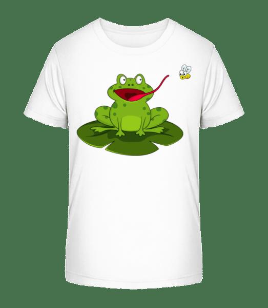 Frog Catches Insect - Detské Premium Bio tričko - Bílá - Napřed