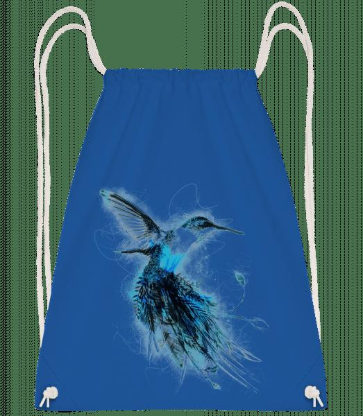 Magic Bird - Drawstring Backpack - Royal blue - Vorn