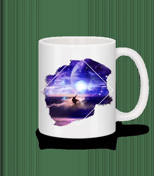 Galactic Surfer - Mug - White - Vorn
