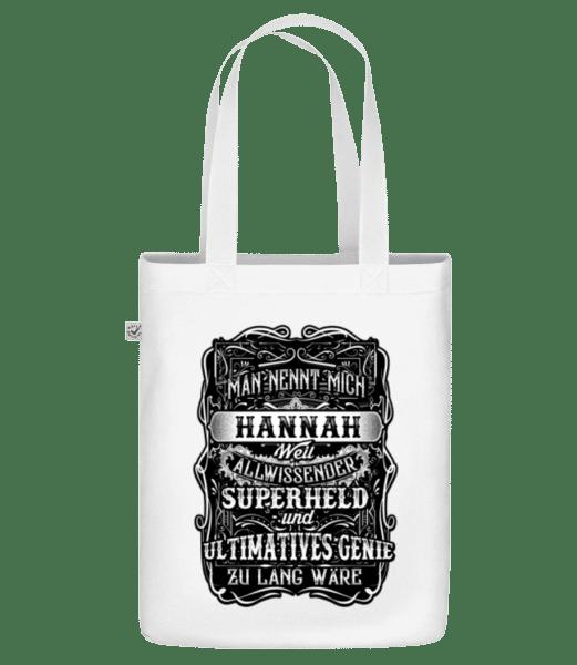 Man Nennt Mich Hannah - Bio Tasche - Weiß - Vorn