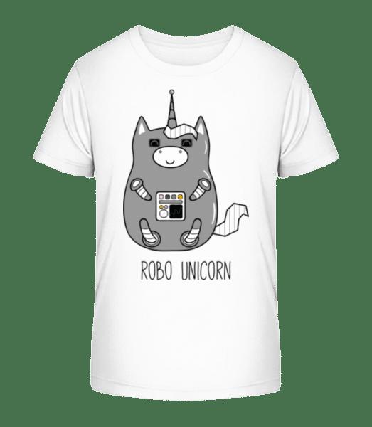 Robo Unicorn - Kid's Premium Bio T-Shirt - White - Front