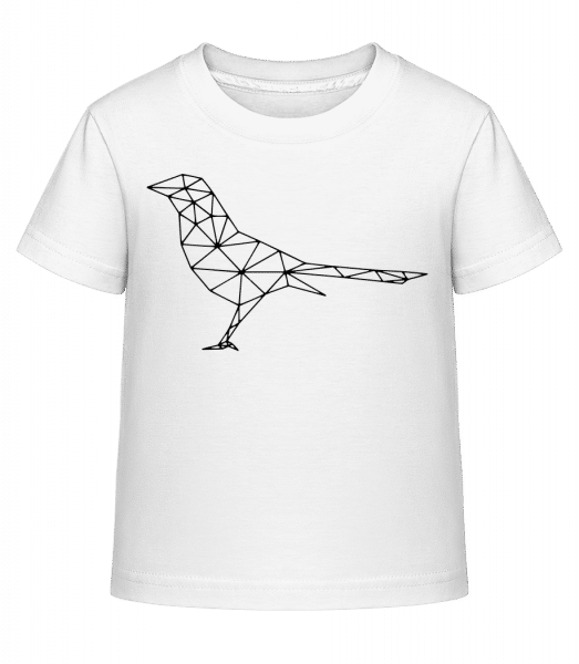 Polygon Bird - Kid's Shirtinator T-Shirt - White - Vorn