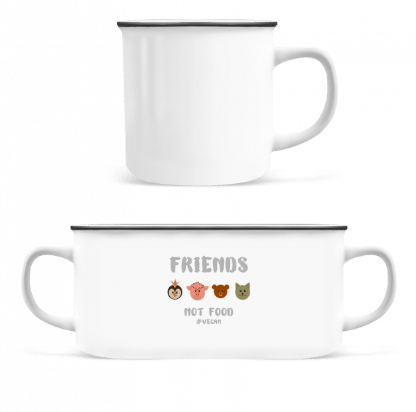 Friends Not Food - Enamel-cup - White - Vorn