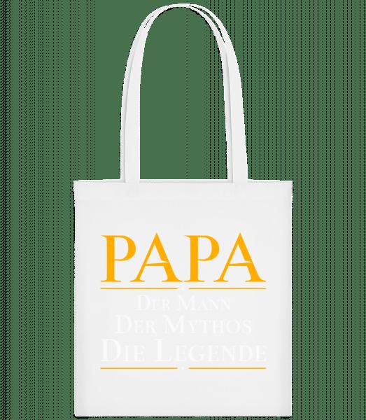 Papa Der Mann Der Mythos Die Leg - Stoffbeutel - Weiß - Vorn