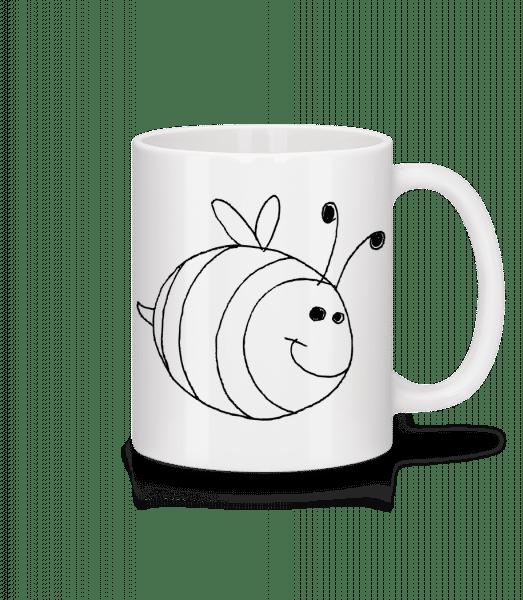 Kinder Comic - Biene - Tasse - Weiß - Vorn