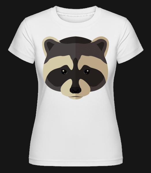 Racoon Comic Shadow -  Shirtinator Women's T-Shirt - White - Vorn