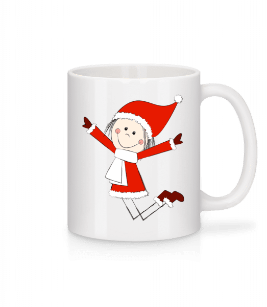 Christmas Girl - Mug - White - Vorn