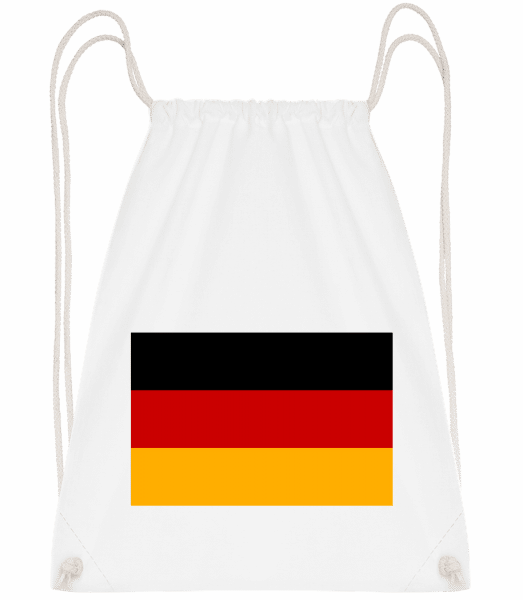 Flag Germany - Drawstring Backpack - White - Vorn