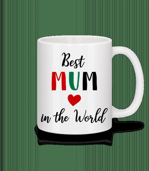 Nejlepší máma In The World - Keramický hrnek - Bílá - Napřed