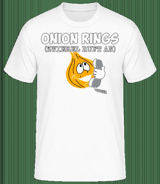 Onion Rings - Männer Basic T-Shirt - Weiß - Vorn