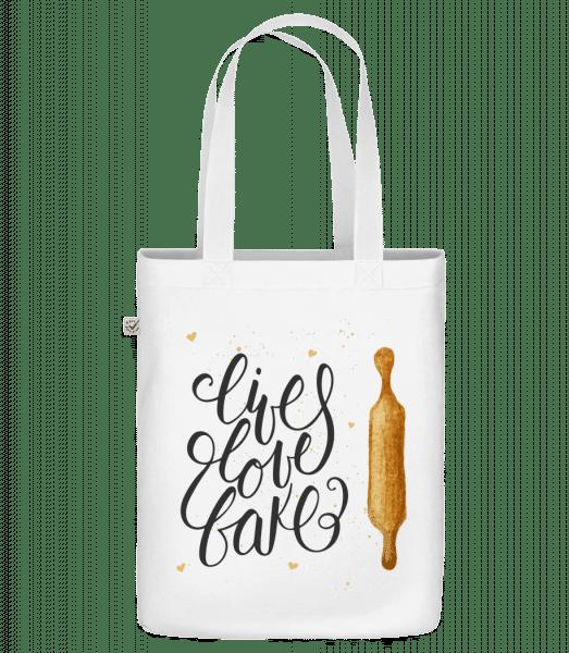 Live Love Bake - Bio Tasche - Weiß - Vorn
