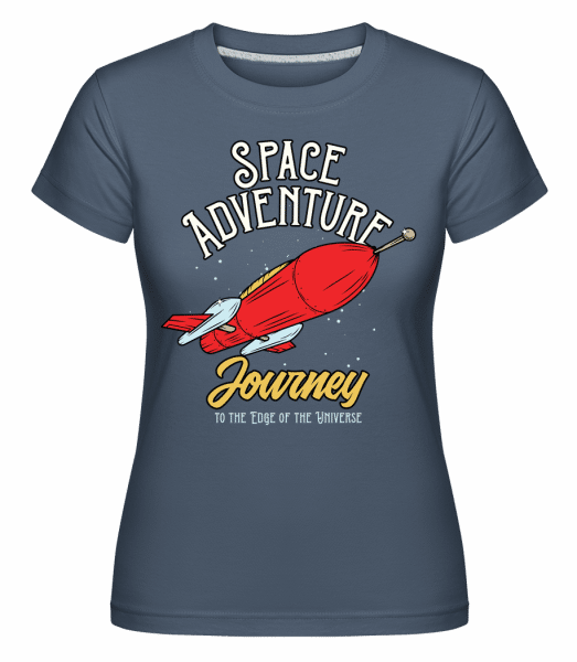 Space Adventure Journey -  Shirtinator Women's T-Shirt - Denim - Vorn