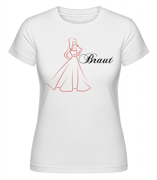Bride Icon Red -  Shirtinator Women's T-Shirt - White - Front