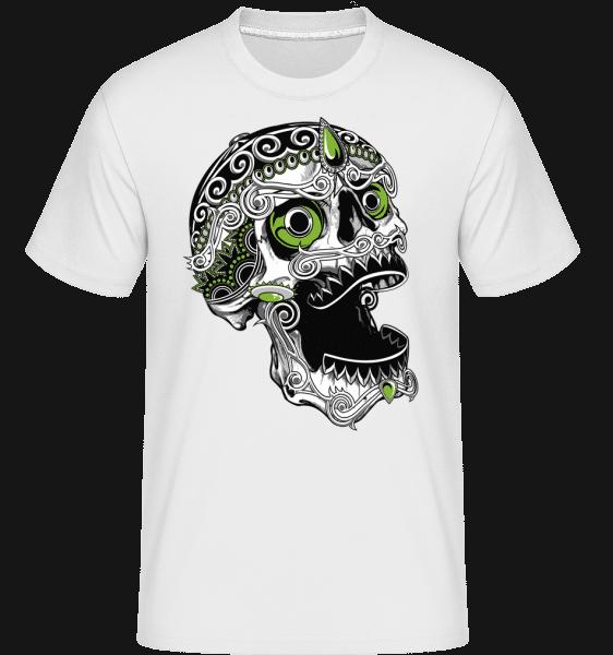 Cool Skull -  Shirtinator Men's T-Shirt - White - Vorn
