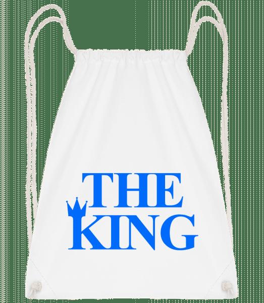 The King Blue - Drawstring Backpack - White - Vorn
