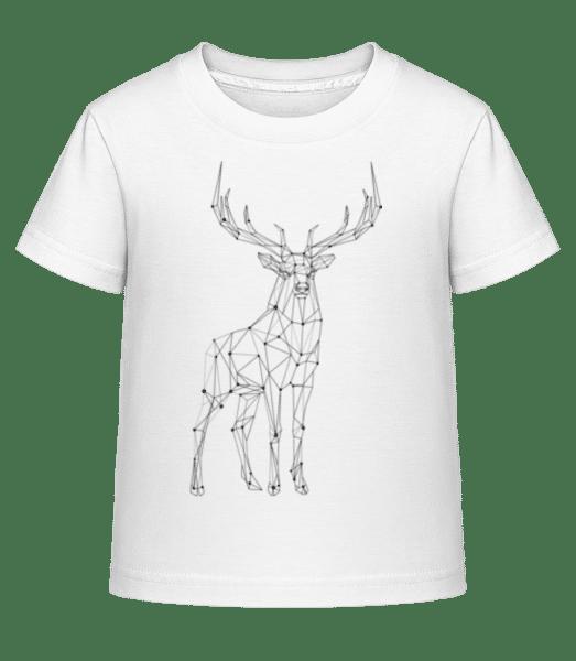 Polygon Deer - Kid's Shirtinator T-Shirt - White - Vorn