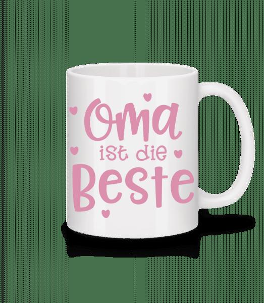 Oma Ist Die Beste - Tasse - Weiß - Vorn
